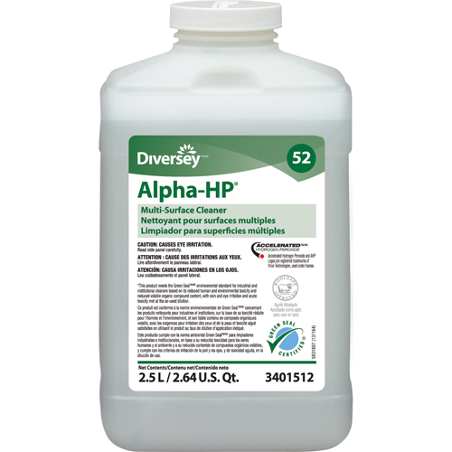 ALPHA HP JFILL MULTI-SURFACE CLEANER #52 2.5LTR GREEN CERTIFIED