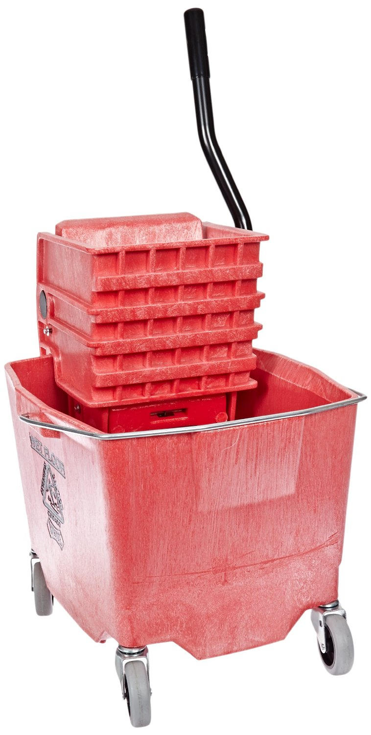 35 Qt Mop Bucket Combo Side Red 2635-3R