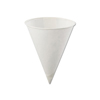 4.0 OZ PAPER CONE WATER CUP W/ROLLED RIM 4KR 5000/CS