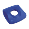 BOTTLE RECYCLING TOLP LID BLUE FOR SQUARE TRASH CANS RCP 2691