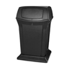 45GAL RANGER TRASH CAN WITH TWO DOORS RCP 9171 BLACK