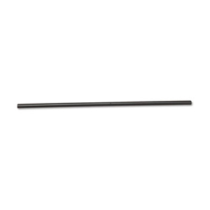 "WOW JUMBO BLACK STRAW UNWRAPPED 7.75"" 30X250 #90SJBK"