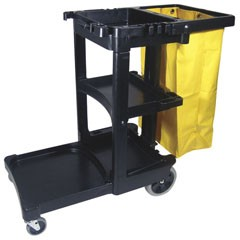 JANITOR'S CART WITH 25 GAL VINYL BAG CONTINENTAL 184BL